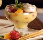 Crema con fruta